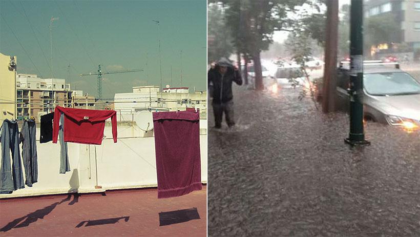 Para disminuir la lluvia, Gobierno solicita que nadie salga a tender la ropa
