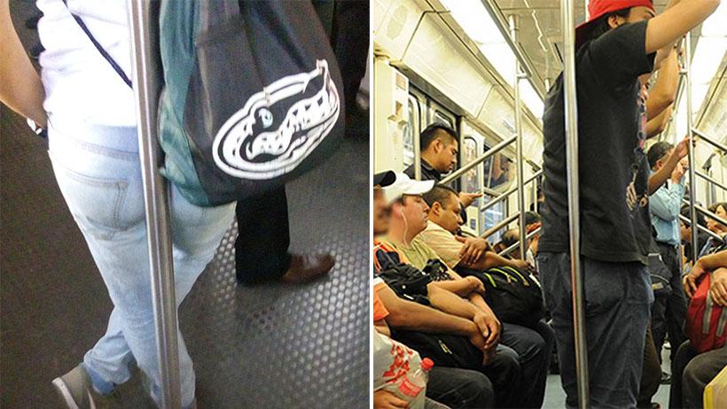 A 8 de cada 10 usuarios les encanta recargar el trasero en el tubo del transporte público: estudio