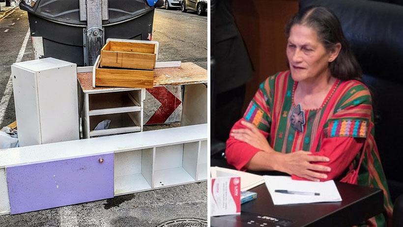Becario que hace arte conceptual con basura afirma que Jesusa Rodríguez es un fraude
