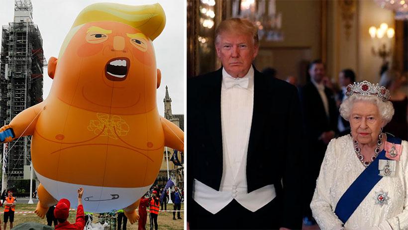 Reina Isabel pide que cambien a Trump por Baby Trump para facilitar el diálogo