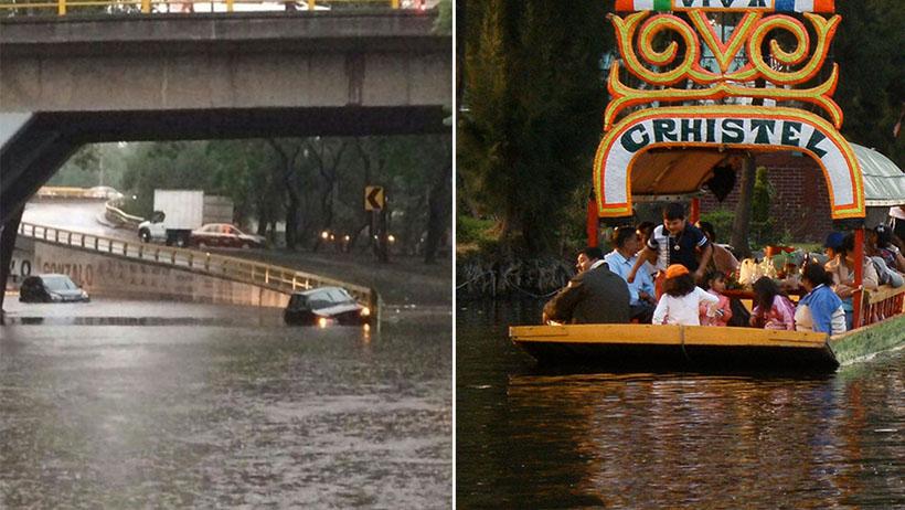 Debido a las lluvias, gobierno permitirá que trajineras circulen todos los días