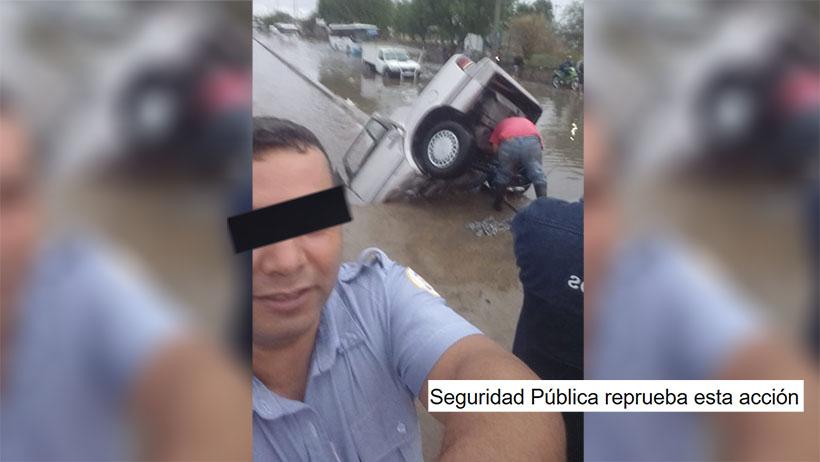 Clásico que te tomas una selfie en el lugar del accidente y te sancionan