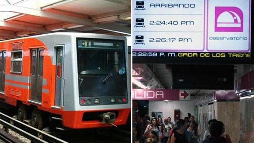 Físicos cuánticos descubren que el tiempo de los monitores del Metro avanza más lento