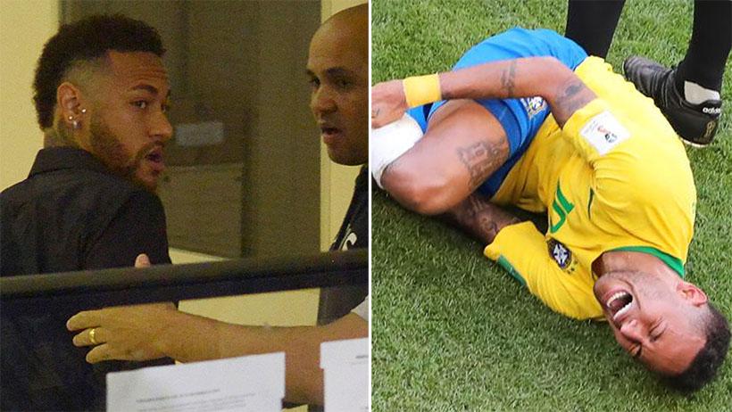 Neymar se tira en el suelo del juzgado hasta que juez lo absuelve