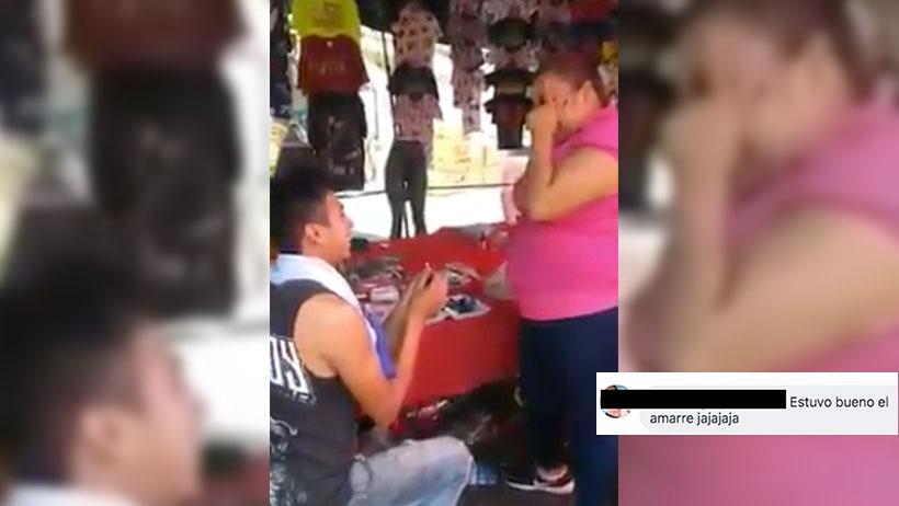 Este romántico urbano le propuso matrimonio a su chica y los ardidos no se dejaron esperar en los comentarios (VIDEO)