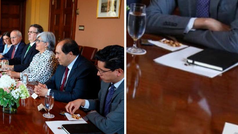 Clásico que estás en junta diplomática y te cachan comiendo cacahuates