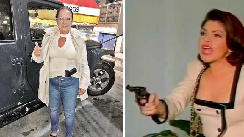 Senadora de Morena sube foto presumiendo su pistola y derechairos mueren de miedo
