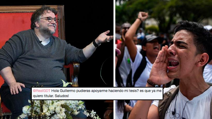Miles de estudiantes le piden a Guillermo Del Toro que les haga la tesis