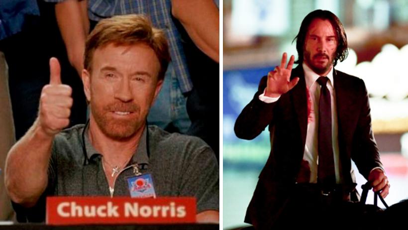 Chuck Norris reconoce que el secreto de su poder fue tomar clases con Keanu Reeves