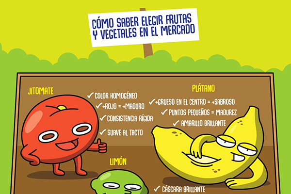 Cómo elefir frutas y vegetales en el mercado