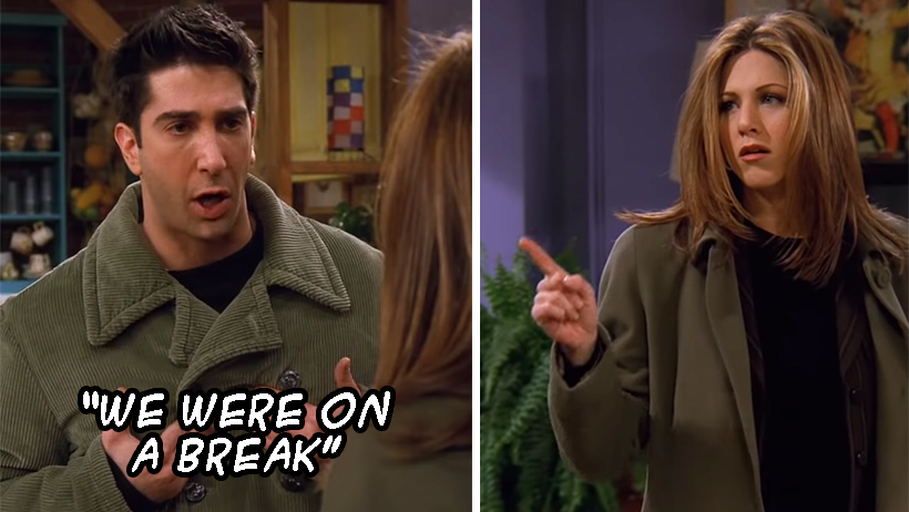 "Nota para que comentes si Ross o Rachel tenían razón con el ""We Were On A Break"""