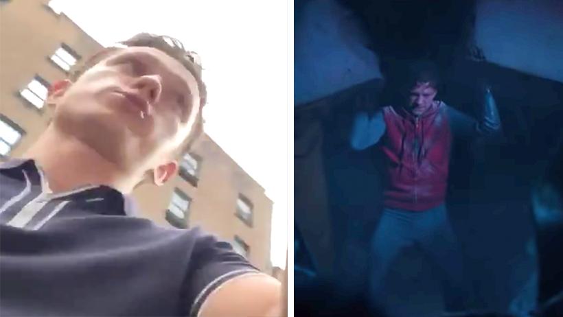 ¡A un lado Spider-man! Una morrita grabó cómo Tom Holland la salva de ser aplastada