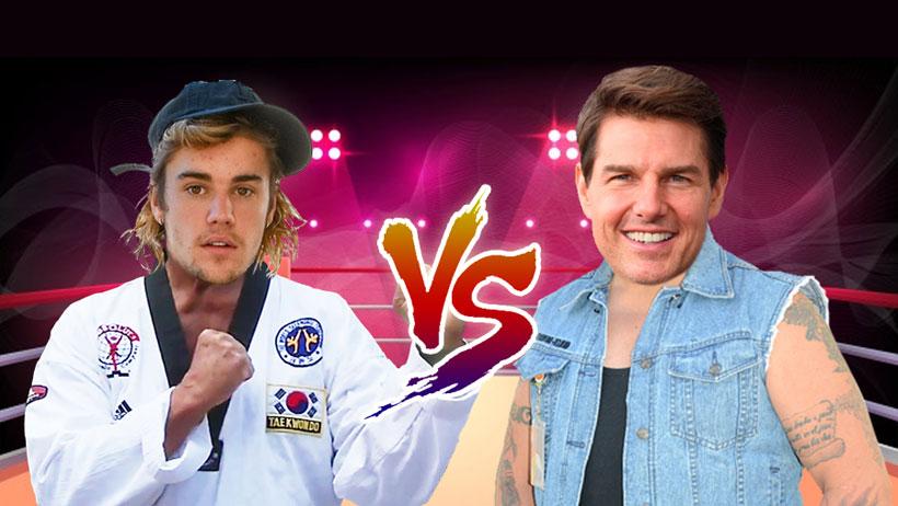 "Justin Bieber aplica un ""Adame VS Trejo"" y ya retó a una ""madrina"" a Tom Cruise"
