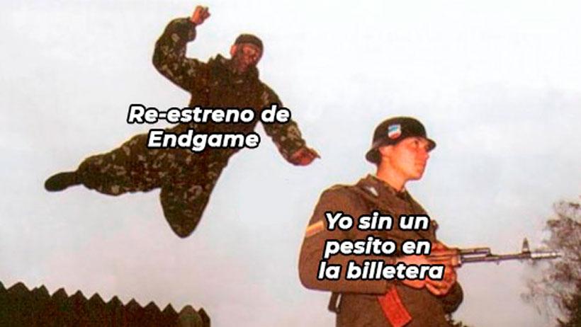 Aquí los repetitivos memes que nos dejó el anuncio del reestreno de Avengers: Endgame en cines