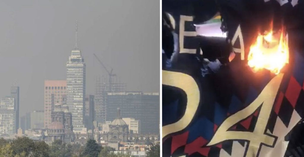 CDMX anuncia contingencia ambiental derivada de la quema de playeras de Oribe Peralta