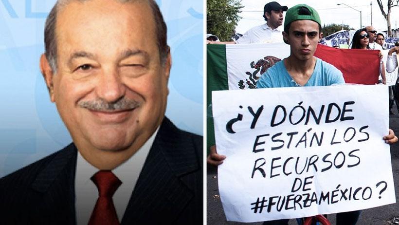 """Clásico que eres el más rico de México pero te """"atrasas en los donativos a damnificados"""""""