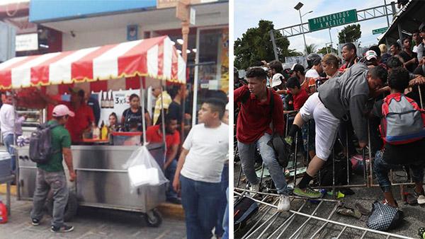 A un lado, guerra de los pasteles: hay un pleito en México por un carrito de jochos