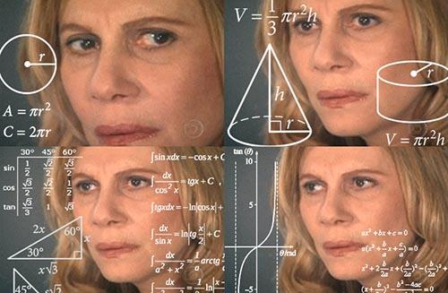 Math lady meme.