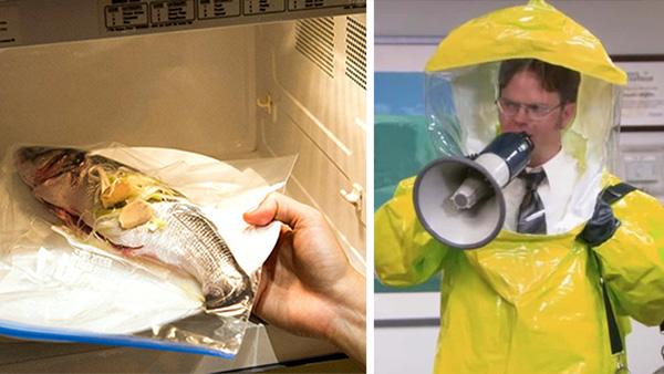 Darán cárcel de por vida a Godínez que calienten pescado en oficinas pequeñas