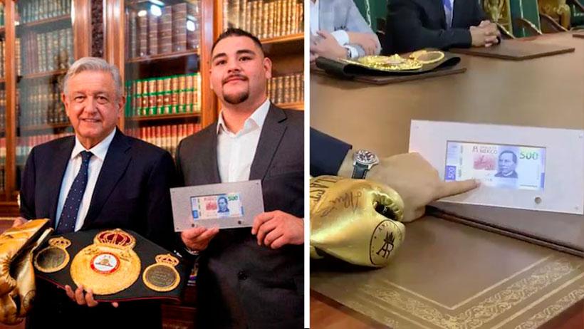 AMLO se reunió con el campeón de box y le regaló 500 pesos para que le siga echando ganas