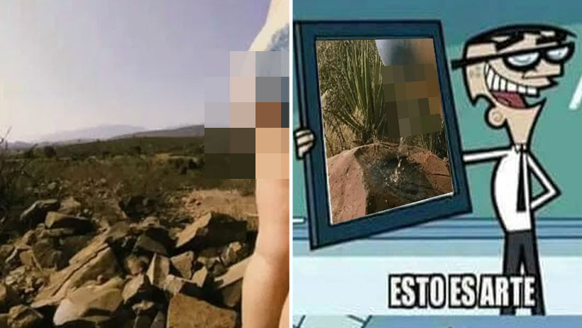 """Estupidez nivel: me orino en pinturas rupestres de Coahuila porque """"Arte Conceptual"""""""
