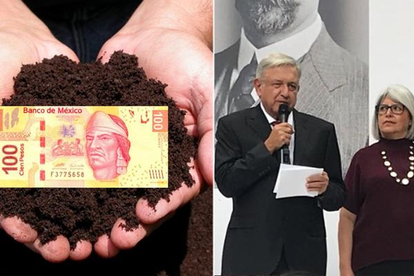 Morena echa sustrato del bueno a un billete para ver si así crece la economía