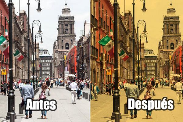 Por decreto oficial, México se decolora a sepia para lucir como en las películas