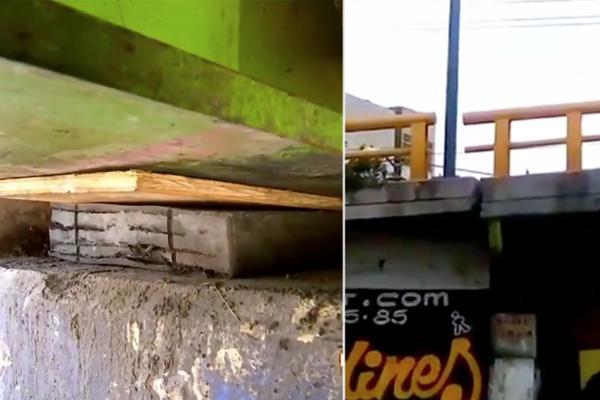 ¿Y qué tan Neza está tu puente? Pues reparan fisura de 50 toneladas con tablita
