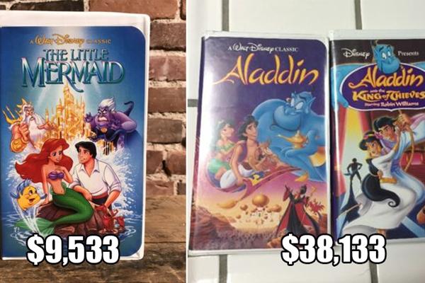 Ve bajando cajas del closet, porque los VHS de Disney se están vendiendo en miles de pesos