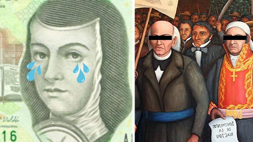 Ya corrieron a Sor Juana del billete de 200 y pondrán a estos dos machos en su lugar