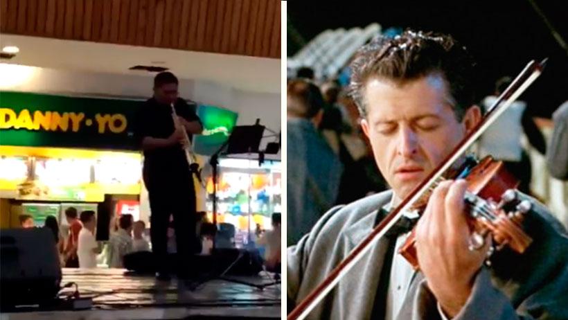 Mi México nivel: Músicos tocan como en Titanic ante inundación de la plaza