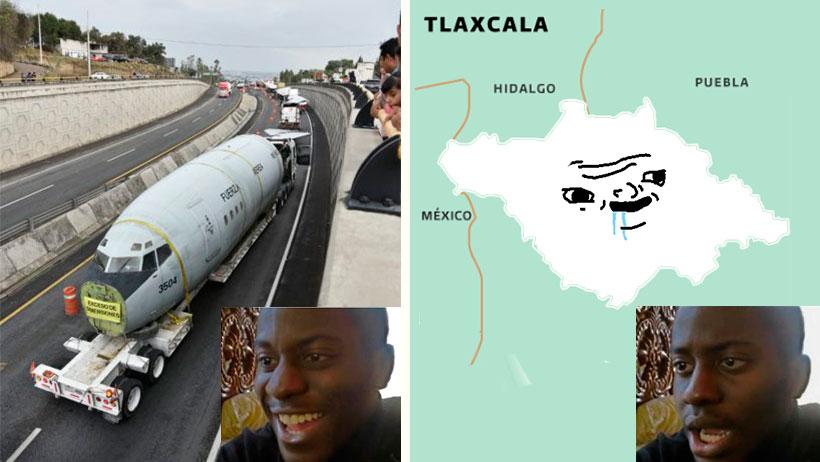Tlaxcala nivel: ¡Ya llegó el primer avión al estado pero no tienen aeropuerto!