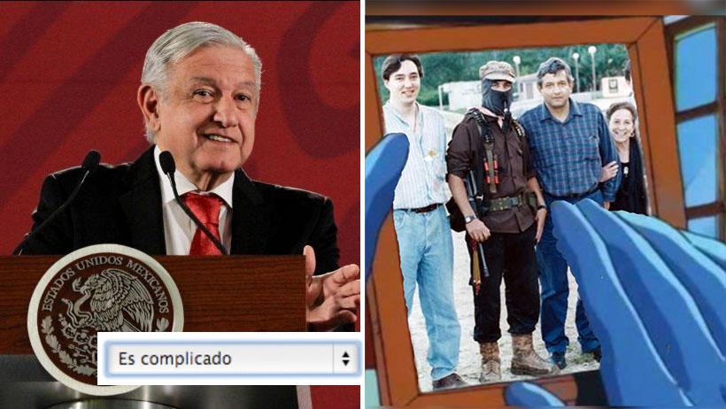 """AMLO actualiza a """"es complicado"""" su situación sentimental con EZLN"""