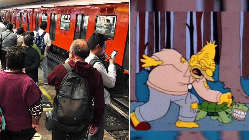 Típico que se te cae la dentadura a las vías y provocas el caos en el Metro