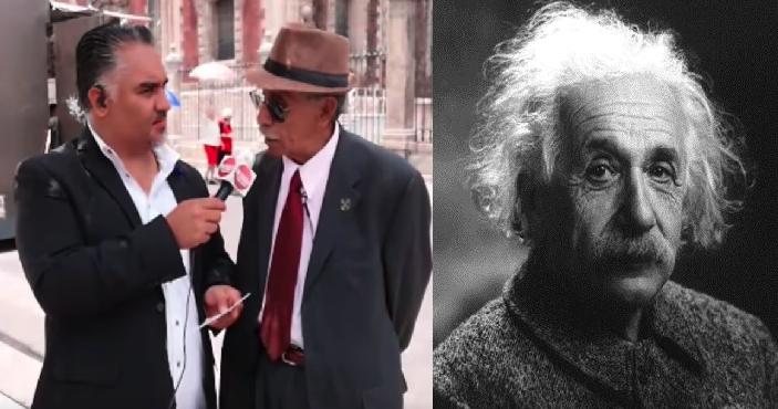 Chairo nivel: dice que AMLO y Einstein tienen el mismo coeficiente intelectual