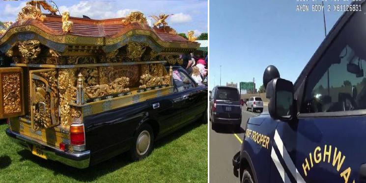 Cuando conduces una carroza fúnebre y te metes al carril para el transporte público porque sí
