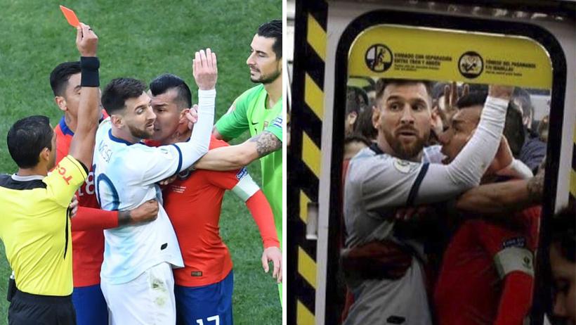 11 memes con el pecho frío que nos dejó el beso entre Messi y Medel
