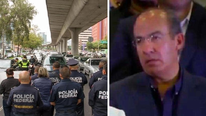 Ya salió el peine, Felipe Calderón está detrás de las protestas de la Policía Federal