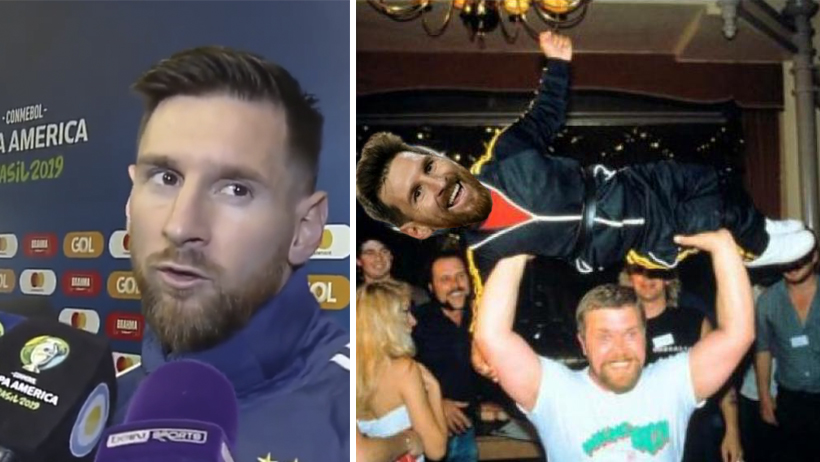 Decepcionado del futbol, ahora Messi se dedicará al lanzamiento de enanos