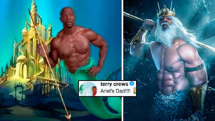 ¿Creíste que La Sirenita ya no tenía solución? Terry Crews será su papá