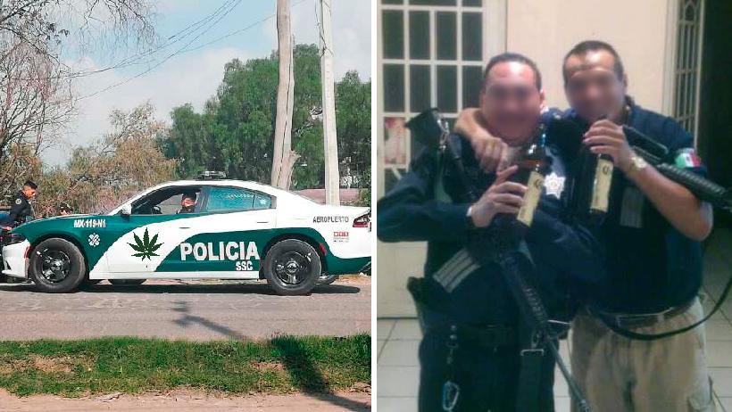 Karma nivel: Detienen a policías por beber y drogarse en su patrulla