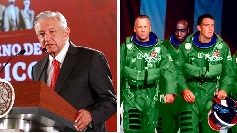 AMLO propone mandar a ingenieros de Pemex al espacio para destruir el meteorito
