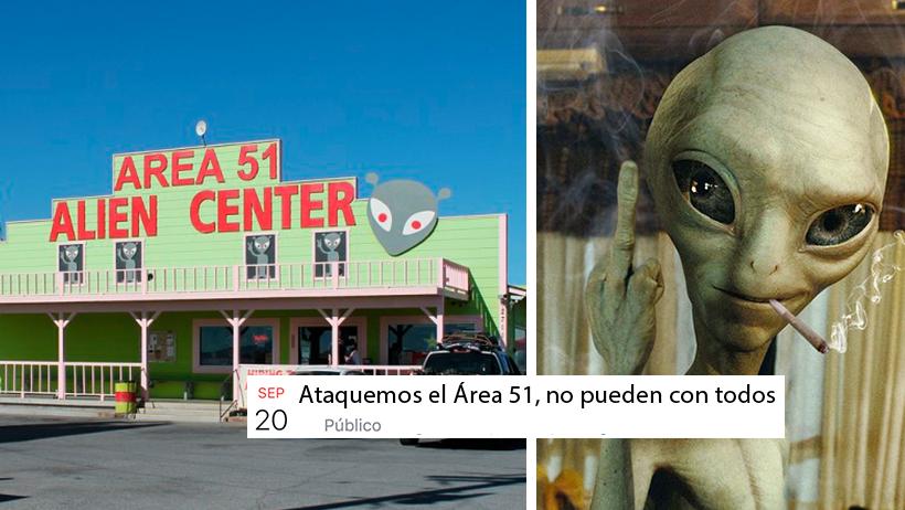 Así es como el internet planea invadir el Área 51 y saciar sus fetiches alienígenas