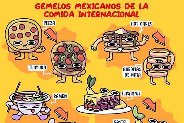 Gemelos mexicanos de la comida internacional