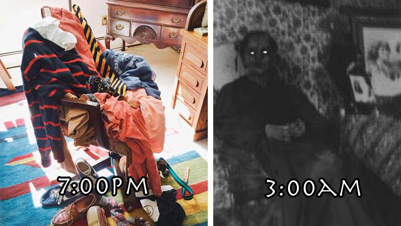 Fantasmas confirman que les gusta poseer montones de ropa sucia para asustar personas