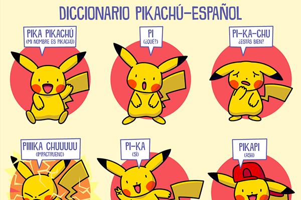 Diccionario Pikachú-Español