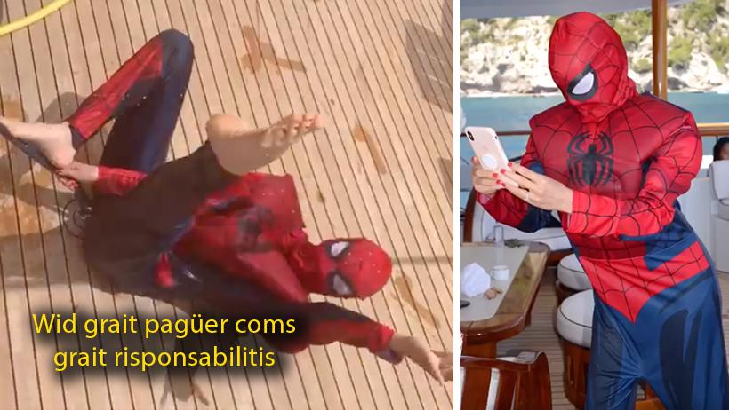 Thalía probó drogas italianas y se disfrazó de Spider-Man en sus vacaciones