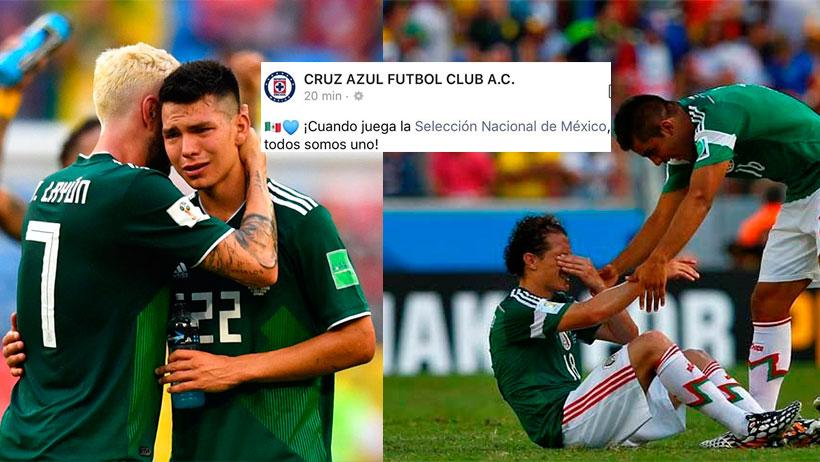 Momento exacto en que Cruz Azul aplica un Judas y revela su apoyo a EUA