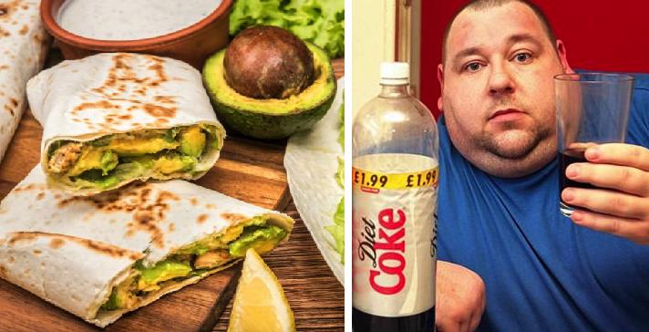 Hombre que toma 1 litro de refresco al día asegura que las tortillas de harina engordan