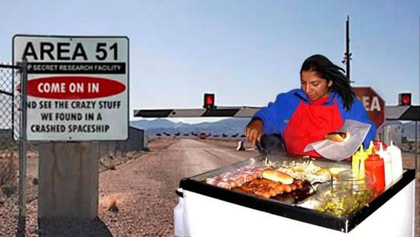 Gobierno mexicano enviará a vendedores de jochos para los que salgan del Área 51